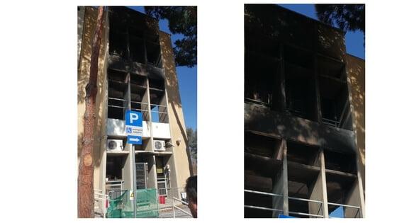 nicosia courthouse fire